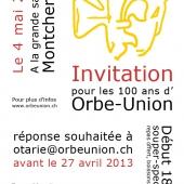 Soirée des 100 ans d'Orbe-Union